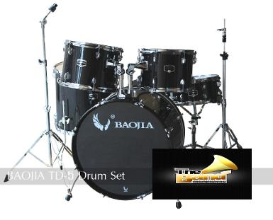 กลองชุด BAOJIA TD-5 Drumset ( 5pcs Drum with hardware )