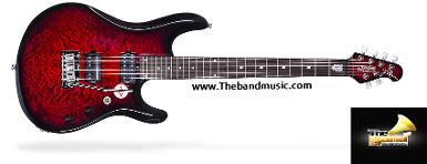 <h2>กีตาร์ไฟฟ้า Sterling by music man jp100d ruby red burst</h2>