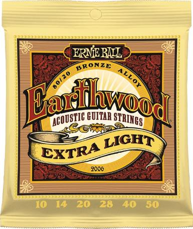 ERNIE BALL EARTHWOOD EXTRA LIGHT 010-050
