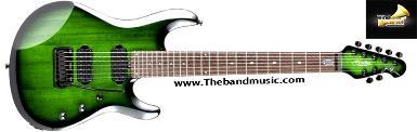 <h2>กีตาร์ไฟฟ้า sterling by music man jp70 transparent green burst 7 strings<h2>